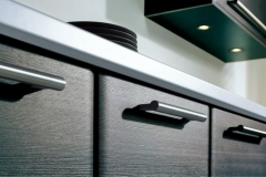 black and grey kitchen cabinets