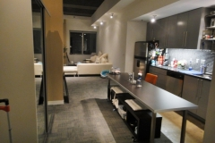 gray themed kitchen